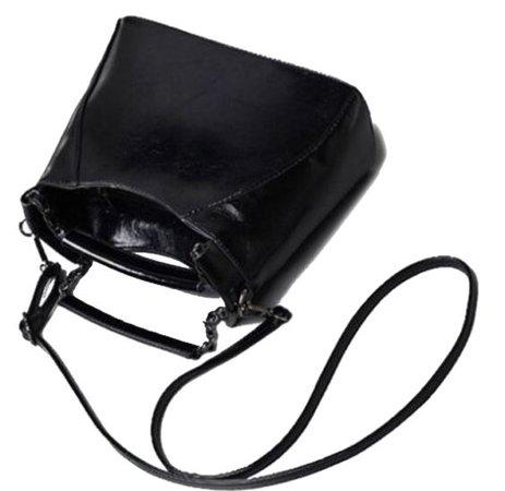 purse bag leather black