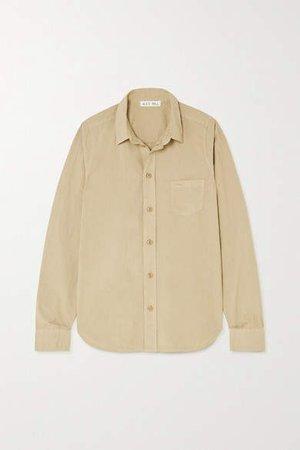 Cotton-poplin Shirt - Beige