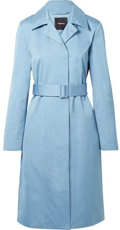 Cotton-twill Coat - Light blue