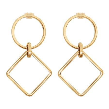 Kolczyki California Mini pozłacane - Kolczyki - Biżuteria - Sklep internetowy Lilou