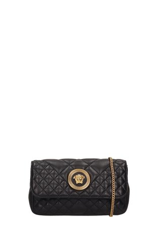 Versace Black Quilted Leather Mini Bag