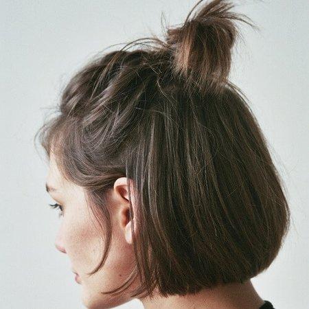 Half Up-Half Down Short Hair