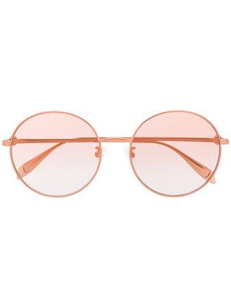 Alexander McQueen Eyewear Round Frame Sunglasses - Farfetch
