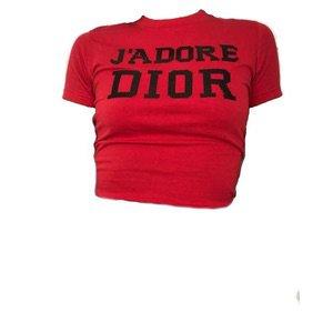 """Christian Dior Red """"J'Adore Dior"""" Shirt"""