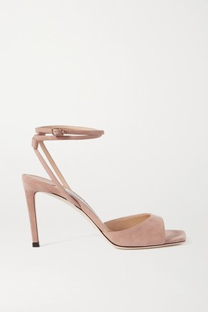 Mori 85 Suede Sandals - Neutral