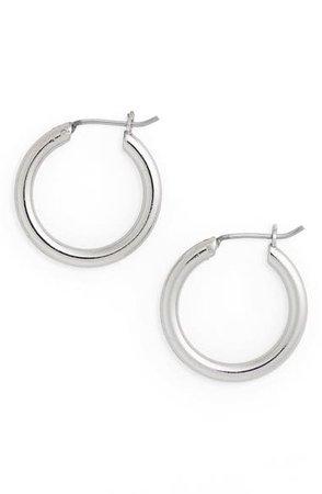 Halogen® Small Endless Hoop Earrings | Nordstrom