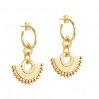 Gold Zenyu Chandelier Hoops | 18ct Gold Plated | Missoma