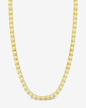 Sterling Forever Interlocking Curb Chain Necklace