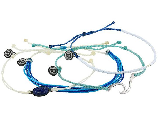 Pura Vida Anchors Away 4-Pack Bracelet Set | Zappos.com