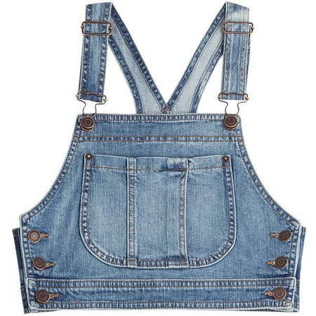 Moschino Denim Crop Top