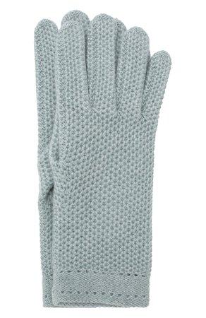 Женские бирюзовые кашемировые перчатки INVERNI — купить за 12750 руб. в интернет-магазине ЦУМ, арт. 2576GU