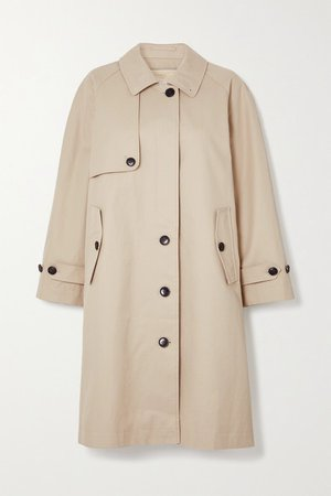 Cotton-twill Trench Coat - Beige