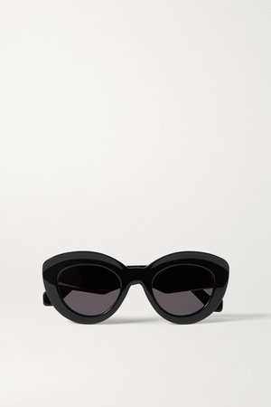 Black Cat-eye acetate sunglasses | Loewe | NET-A-PORTER