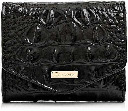 Small Veronica Croc Embossed Leather Wallet