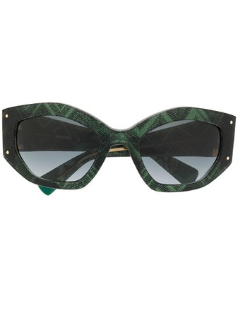 Missoni Oversized Geometric Sunglasses MIS0001S Green | Farfetch