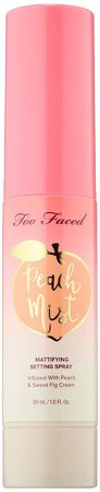 Peach Mist Mattifying Setting Spray Mini Peaches and Cream Collection