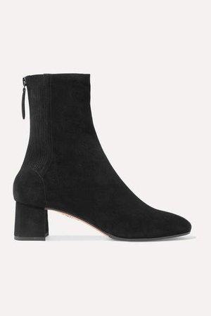 Saint Honore 50 Suede Sock Boots - Black