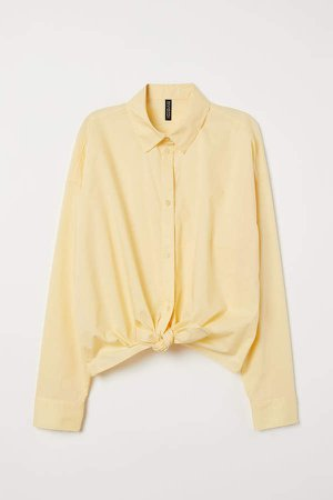 Tie-hem Shirt - Yellow