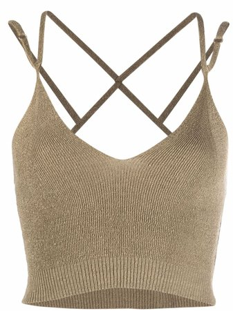 Jacquemus La Maille Aneto Knitted Crop Top - Farfetch