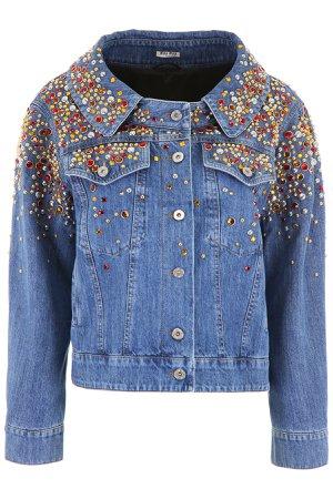 Miu Miu Studded Denim Jacket