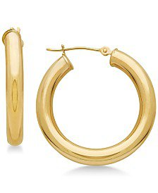 Macy's 14k Gold Hoop Earrings & Reviews - Earrings - Jewelry & Watches - Macy's