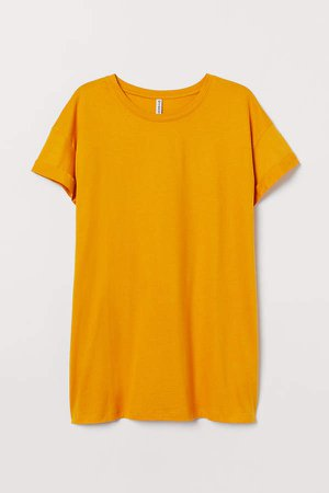 H&M+ Jersey Top - Yellow