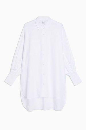 White Oversized Poplin Shirt | Topshop
