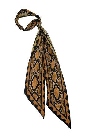 Kate Moss Snakeskin Print Scarf | Super-Skinny Silk Scarves | Rockins – Rockins HQ