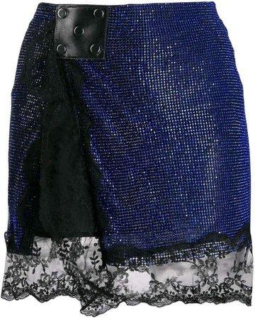 CHRISTOPHER KANE crystal mesh mini skirt