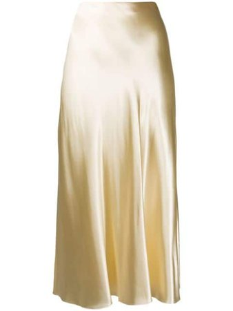 The Row Satin A-Line Skirt 1068W1723 Neutral | Farfetch