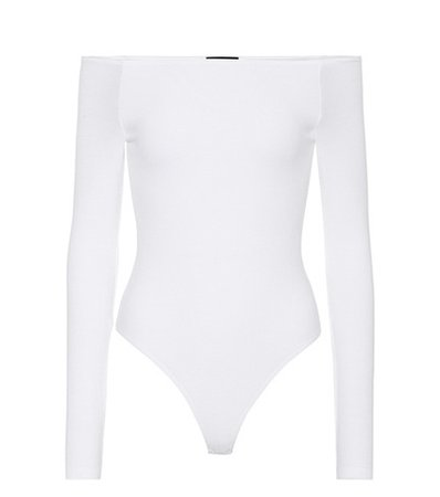 Jersey off-the-shoulder bodysuit