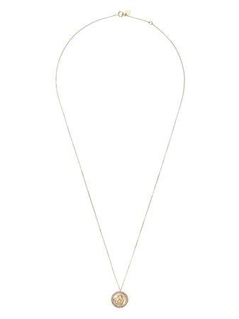 Feidt Paris 9kt yellow gold Angel Raphael sapphire pendant necklace gold MAD311J - Farfetch