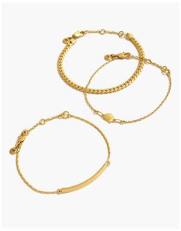 Three-Pack Chain Bracelet Set