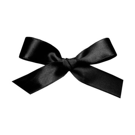 black satin bow filler png
