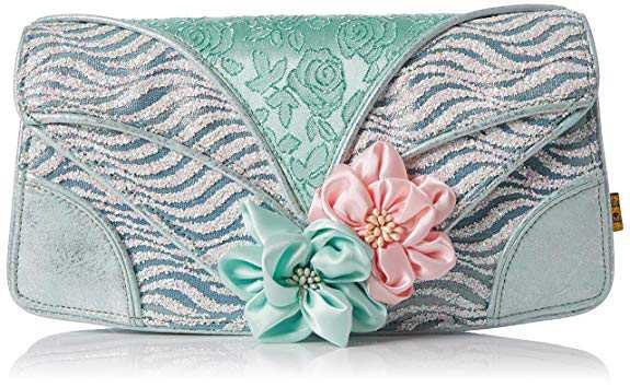 Irregular Choice Womens Peach Melba Clutch Clutch Green (Mint): Amazon.co.uk: Shoes & Bags