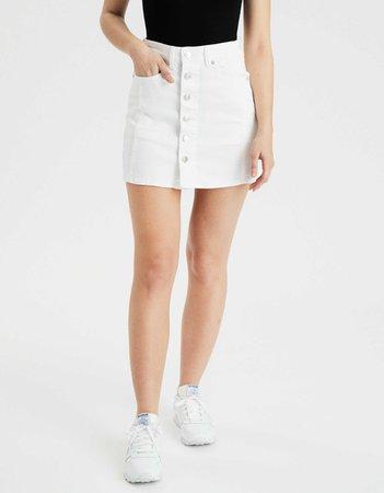 AE Super High-Waisted Denim A-Line Skirt