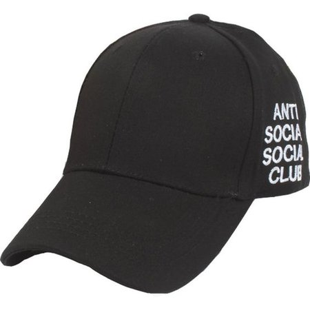 YCMI Unisex Anti Social Club Embroidered Baseball Cap Sun Hats