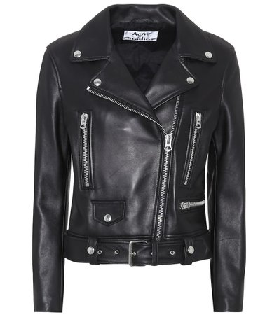 Acne Studios - Leather jacket | Mytheresa