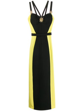 Fausto Puglisi colour-block gown $1,451 - Buy Online - Mobile Friendly, Fast Delivery, Price
