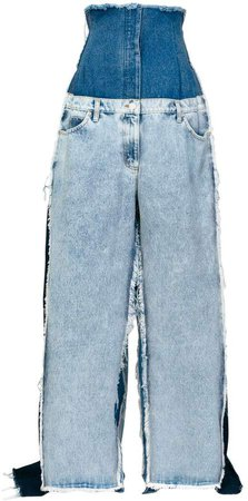 oversized super high-rise jeans