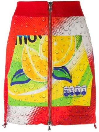 Moschino Pre-Owned 1990's Soda Print Mini Skirt - Farfetch