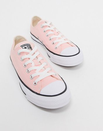 Converse chuck taylor all star ox pale pink sneakers | ASOS