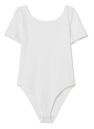 White T-Shirt Bodysuit