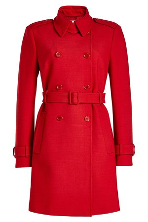 Belted Coat with Cotton and Wool Gr. IT 44