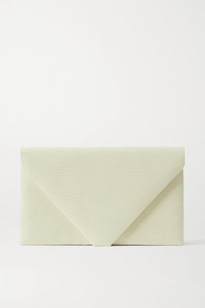 Envelope Lizard Clutch - Cream