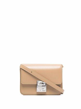 Givenchy logo-buckle leather crossbody bag - FARFETCH