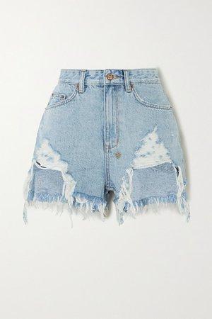 Ksubi | Rise N Hi distressed denim shorts | NET-A-PORTER.COM