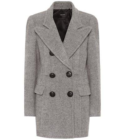 Elea double-breasted wool coat