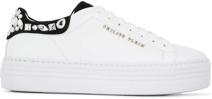 Low-Top Crystal Sneakers