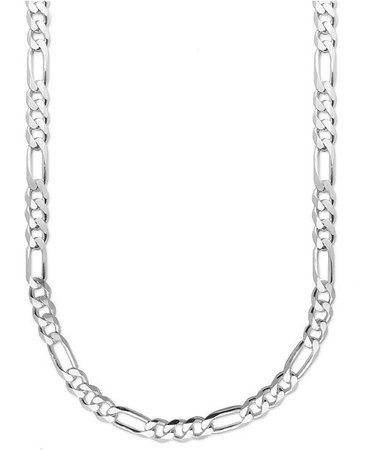 """Macy's Men's Sterling Silver Necklace, 22"""" 8mm Figaro Chain & Reviews - Necklaces - Jewelry & Watches - Macy's"""